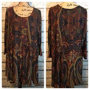 Reborn Multicolored Tunic/ Dress Top Size 3X